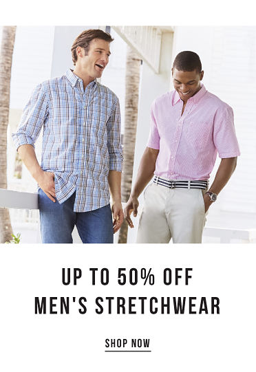 Style meets function. Up to 50% off men's stretchwear. Shop now