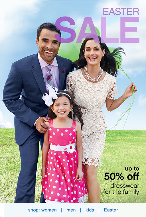 Easter Sale Up To 50 Off Dresswear For The Family