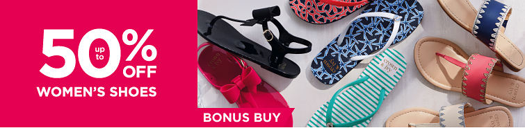 up to 50% Off Women's Shoes Bonus Buy