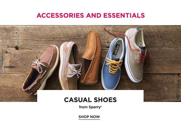 Accessories and essentials. Casual shoes from Sperry registered trademark. Shop now