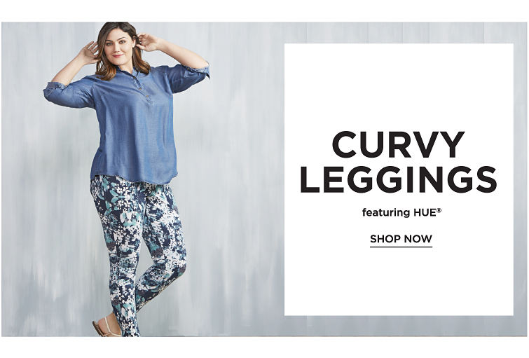 Curvy Leggings featuring HUE registered trademark. Shop now