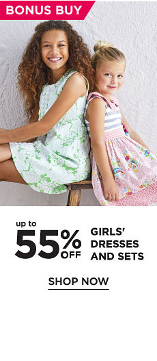 Bonus Buy! Up to 55% off Girls' Dresses and Sets - Shop Now