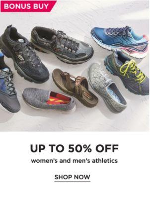 BonusBuy Up To 50% Off Womens and Mens Athletics | shop now