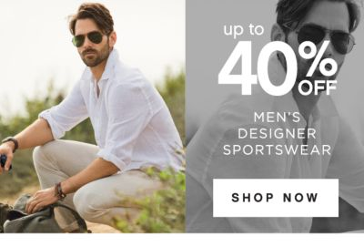 up to 40% OFF | MEN'S DESIGNER SPORTSWEAR | SHOP NOW