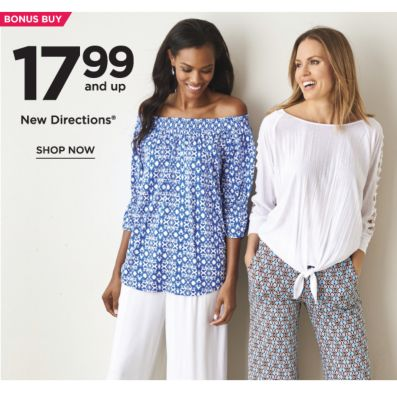 BONUS BUY -  17.99 and up New Directions®. Shop Now.