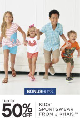 BONUSBUYS | up to 50% OFF KIDS' SPORTSWEAR FROM J KHAKI™