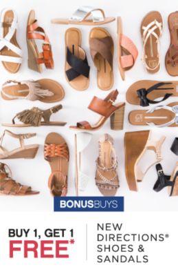 BONUSBUYS | BUY 1, GET 1 FREE* NEW DIRECTIONS® SHOES & SANDLAS