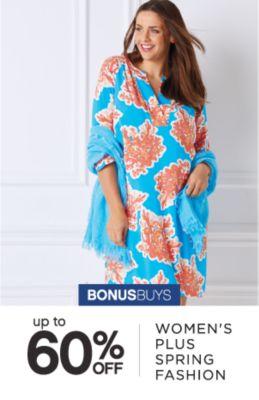 BONUSBUYS | up to 60% OFF WOMEN'S PLUS SPRING FASHION
