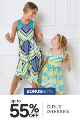 BONUSBUYS | up to 55% OFF GIRLS' DRESSES