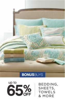 BONUSBUYS | up to 65% OFF BEDDING, SHEETS, TOWELS & MORE