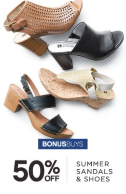 BONUSBUYS | 50% OFF SUMMMER SANDALS & SHOES
