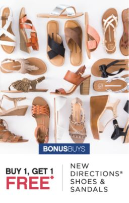 BONUSBUYS | BUY 1, GET 1 FREE* NEW DIRECTIONS® SHOES & SANDALS