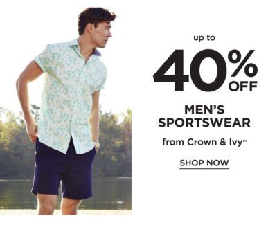 Up to 40% off Men's Sportswear from Crown & Ivy™. Shop now.