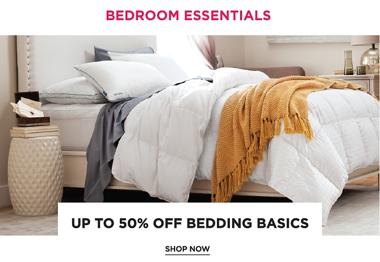 Bedroom Essentials | Up To 50Percent Off Bedding Basics | shop now