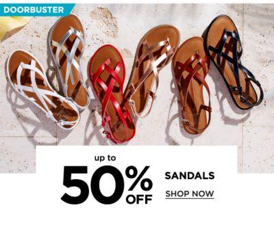 Doorbuster! Up to 50% off Sandals - Shop Now