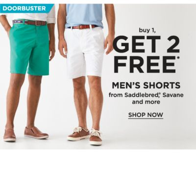 Doorbuster! Buy 1, Get 2 FREE* Men's Shorts from Saddlebred, Savane and more - Shop Now
