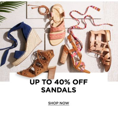 Up to 40% off Sandals - Shop Now