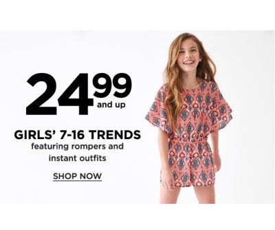 24.99 and Up Girls' 7-16 Trends featuring Rompers and Instant Outfits - Shop Now