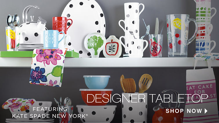 Designer Tabletop featuring kate Spade New York | shop now