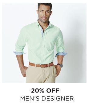 20% OFF MEN'S DESIGNER