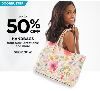 Doorbuster - Up to 50% off Handbags from New Directions® and more. Shop Now.