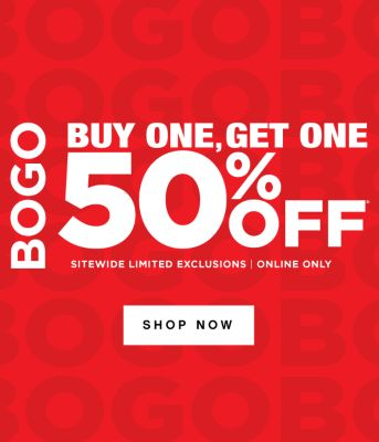LAST DAY! BOGO - Buy One, Get One 50% off* - Sitewide Limited Exclusions | Online Only. Shop Now.