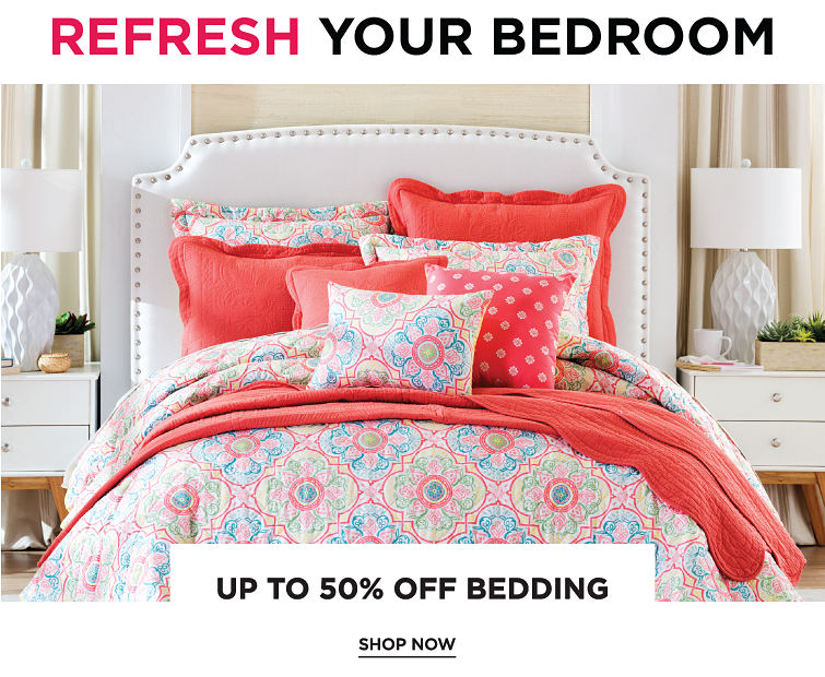 Refresh Your Bedroom | Up To 50% Off bedding | Shop Now