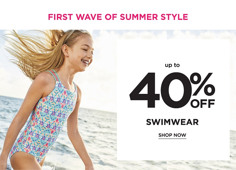 First Wave of Summer STYLE - Up to 40% off Swimwear. Shop now.
