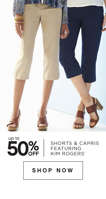 Up to 50% off Shorts & Capris featuring Kim Rogers® - Shop Now