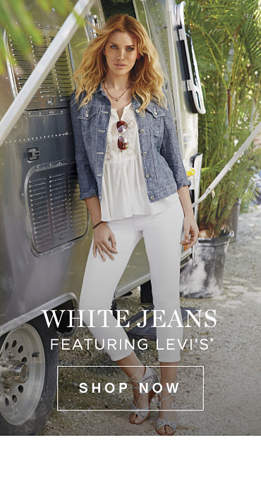 White Jeans featuring Levi's® - Shop Now