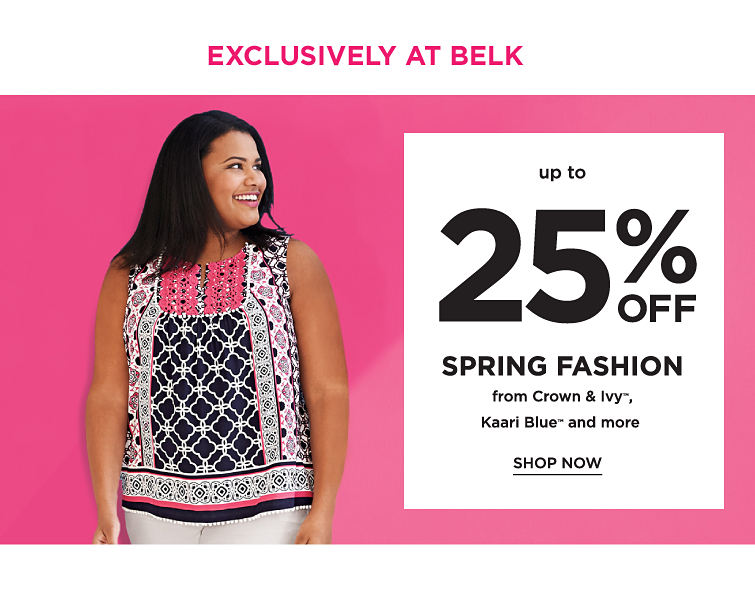 Exclusively At Belk Up To 25% Off Spring fashion From Crown & Ivy Karari Blue And more | Shop Now