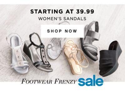 STARTING AT 39.99 WOMEN'S SANDALS | SHOP NOW | FOORWEAR FRENZY SALE