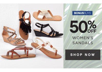 BONUSBUYS | 50% OFF WOMEN'S SANDALS | SHOP NOW