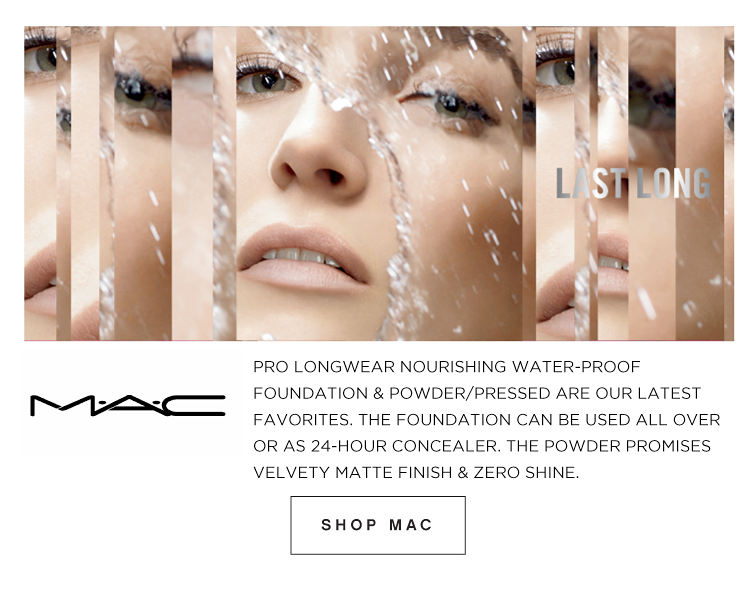 M·A·C· Last Long | Pro Longwear nourishing water-proof foundation & powder/pressed are our latest favorites. The foundation can be used all over or as 24-hour concealer. The powder promises velvety matte finish & zero shine. | Shop MAC