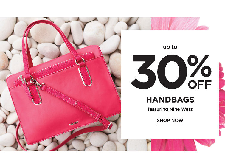Up to 30% off handbags featuring Nine West. Shop now