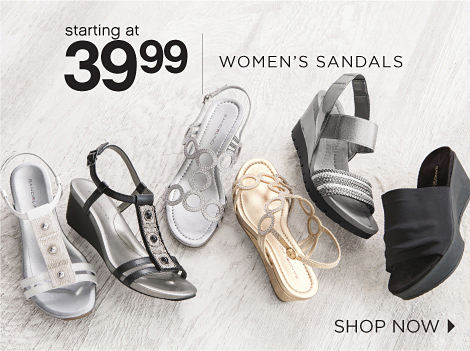 starting at 39.99 WOMEN'S SANDALS | SHOP NOW