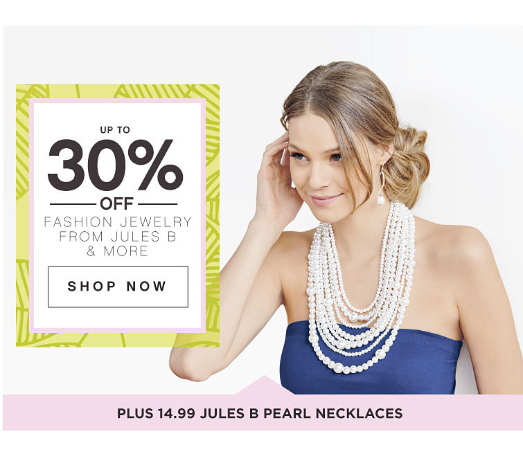 Up To 30% Off Fashion Jewelry Shop Now