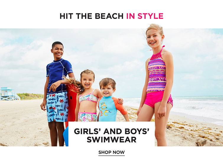 Hit the Beach in Style - Girls' and Boys' Swimwear. Shop now.