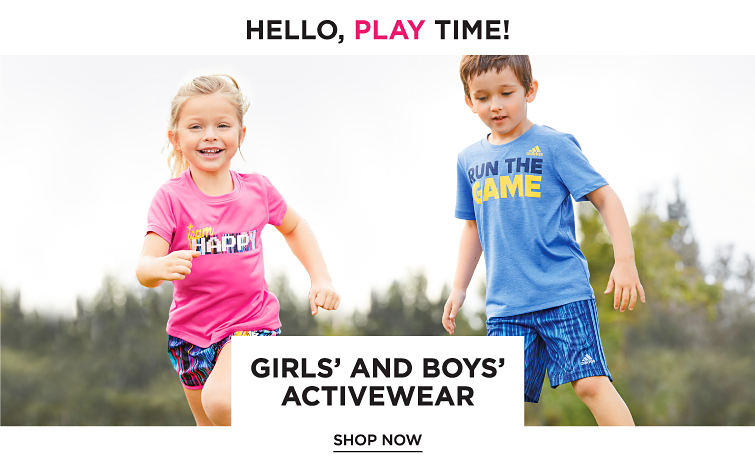 Hello, Play Time! Girls' and Boys' Activewear. Shop now.