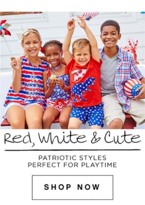 Red, White & Cute | Patriotic gear perfect for playtime | shop now