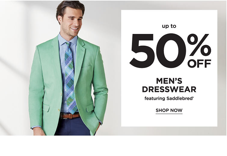 Up to 50% off men's dresswear featuring Saddlebred. Shop now
