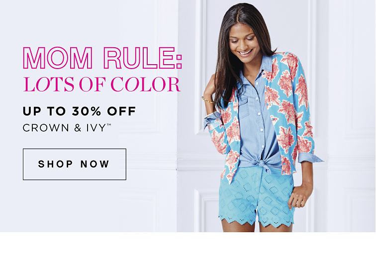 Mom Rule: Lots of Color | Up to 30% off crown & ivy™ - Shop Now