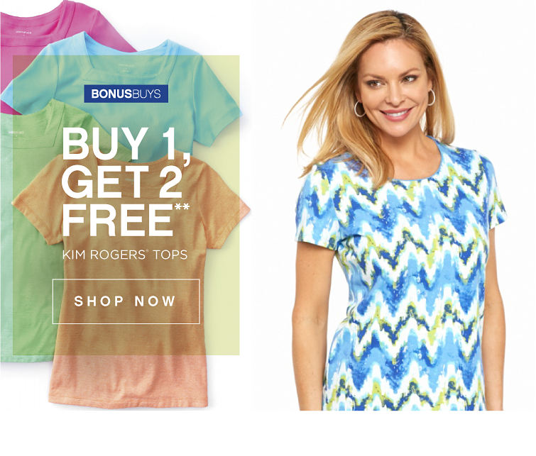BonusBuys | Buy 1, Get 2 Free** Kim Rogers® Tops - Shop Now