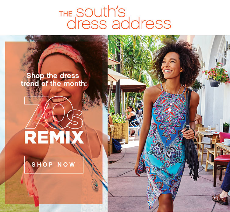 The South's Dress Address | Shop the Dress Trend of the Month: 70s Remix - Shop Now
