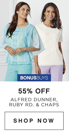 BonusBuys | 55% off Alfred Dunner, Ruby Rd. & Chaps - Shop Now