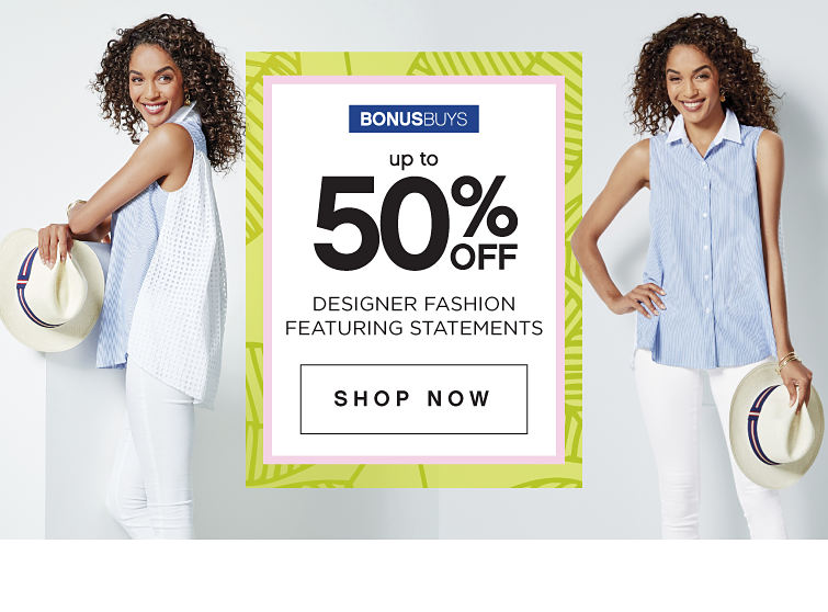 BonusBuys | Up to 50% off Designer Fashion featuring Statements - Shop Now
