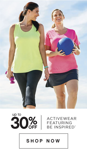 Up to 30% off Activewear featuring be inspired® - Shop Now