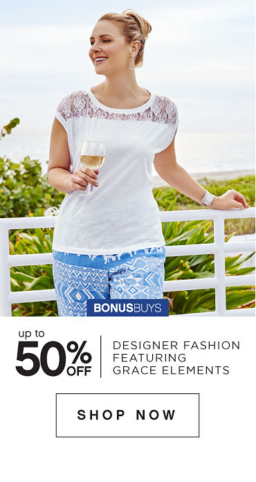 BonusBuys | Up to 50% off Designer Fashion featuring Grace Elements - Shop Now