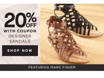 20% OFF WITH COUPON DESIGNER SANDALS | SHOP NOW | FEATURING MARC FISHER
