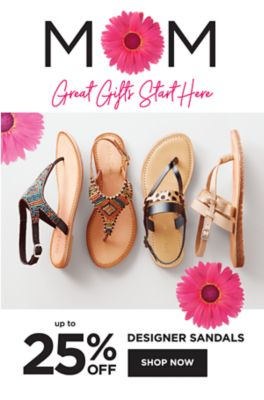 MO - Great Gifts Start Here | Up to 25% off designer sandals. Shop Now.